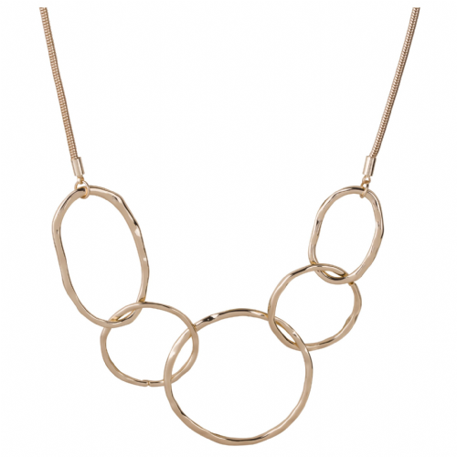 Bisoux Jewellery Short Gold Abstract Necklace